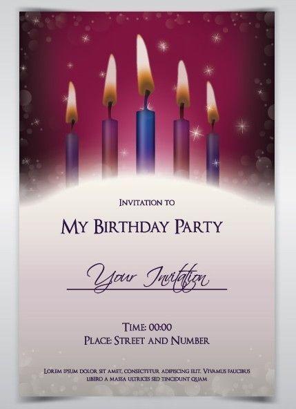 24 Unique Birthday Invitation Card Template Vector Coreldraw C Unique Birthday Invitations Birthday Invitation Card Template Free Birthday Invitation Templates