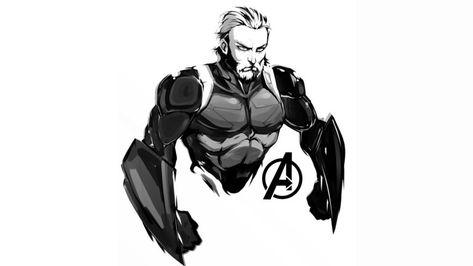 Wallpaper 4k Steve Rogers In Avengers Infinity War Wallpaper