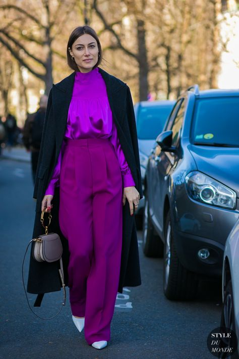 Looking for more Purple fashion & street style ideas? Check out my board: Purple Street Style by Street Style // Purple Fashion // Spring Outfit Giorgia Tordini by STYLEDUMONDE Street Style Fashion Photography