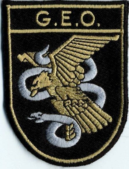 PARCHE BORDADO GEO GRUPO ESPECIAL DE OPERACIONES G.E.O CUERPO NACIONAL POLICIA