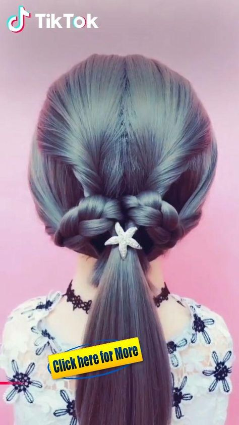 Super easy to try a new #hairstyle ! Download #TikTok today to find more hairsty