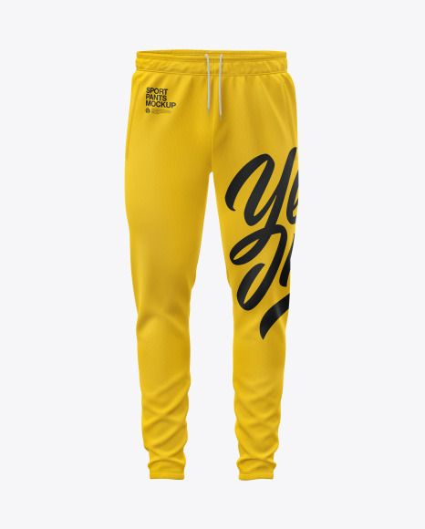 Download Men S Sport Pants Mockup In Apparel Mockups On Yellow Images Object Mockups Clothing Mockup Sport Pants Men Sport Pants