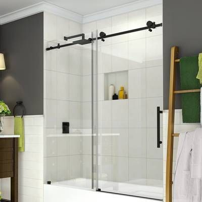 60 X 62 Single Sliding Frameless Tub Door With Images Tub