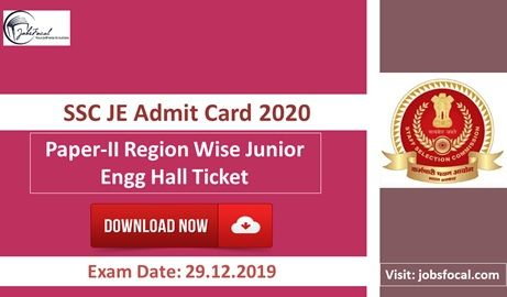 Staff Selection Commission Has Issued Ssc Je Admit Card 2020