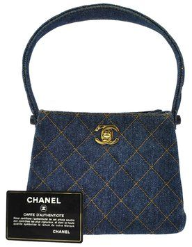 6b48b9987a73 Chanel Mini Hand Denim Vintage Good Blue Tote Bag. Get one of the ...