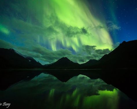 """""""A new season with Northern Lights has started in northern Norway,"""" reports photographer Kristin Berg, who took this picture on Sept. 2nd from Tromsø. """"What a night! 