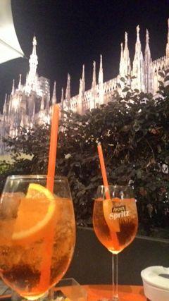 Terrazza Aperol Aperol Spritz And Duomo View Milan Italy