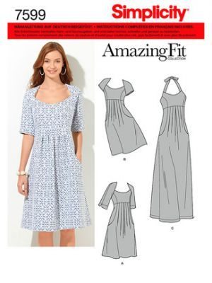 7599 Simplicity Schnittmuster Kleid
