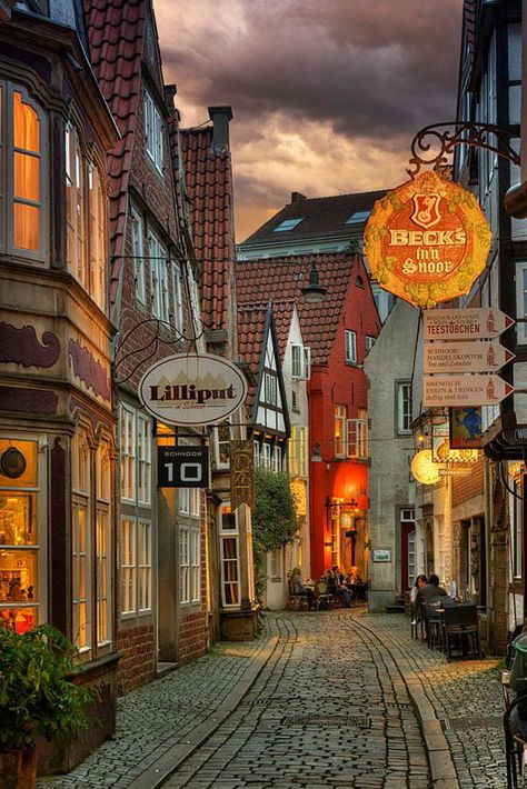 medieval quarter 'Schnoor' in the city of Bremen, Germany. by Alexander Riek Places Around The World, The Places Youll Go, Places To See, Around The Worlds, Travelling Germany, Germany Travel, City Aesthetic, Travel Aesthetic, Jolie Photo