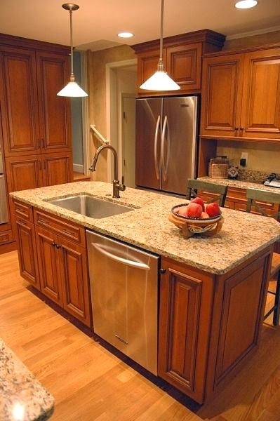 Kitchen Island With Sink And Dishwasher For Hob