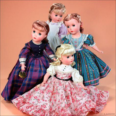 """Little Women 15"""" 1947 ~ Meg, Beth, Amy & Jo, by Madame Alexander"""