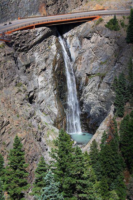 Bear Creek Falls In 2020 Waterfall Ouray Colorado Beautiful