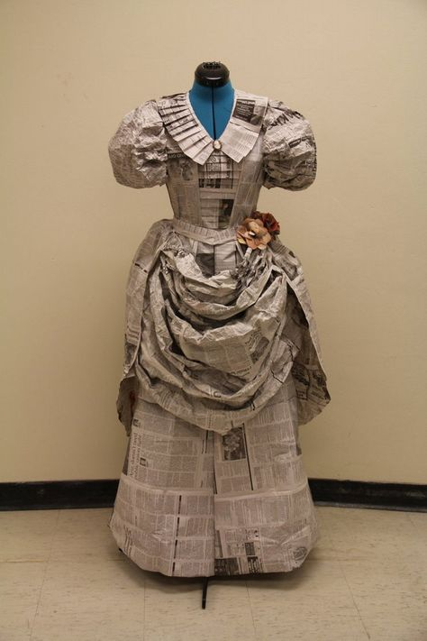 Recycled Newspaper Dress
