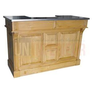 Comptoir De Bar 150cm Plateau Zinc Ou Pin Meuble Bar Comptoir De Bar Meuble Bar Comptoir
