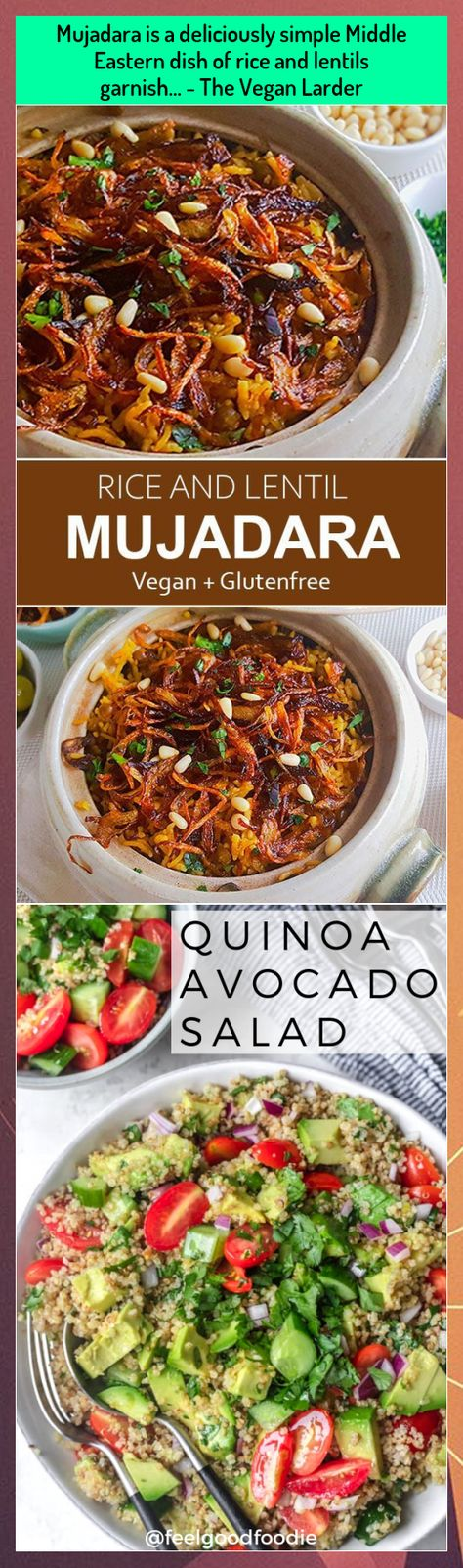 Mujadara Is A Deliciously Simple Middle Eastern Dish Of Rice And Lentils Garnish The Vegan Larder In 2020 Middle Eastern Dishes Vegan Dinner Recipes Lentils