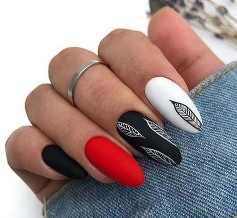 135 fabulous black nail designs for ladies