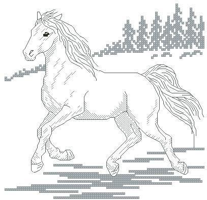 Wild Horse Cross Stitch Chart Free Pattern