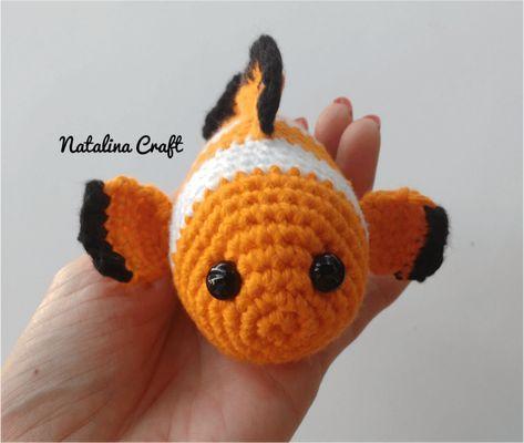 Crochet Fish Amigurumi Clownfish Patrones Amigurumi