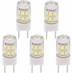 Led G8 2w Led Light Bulb Replace 20 25w Halogen Bulb Jcd Type T4 G8 Gy8 120 Volt Led Light Pack Of 5 Daylight White 6000k Packing Light Light Bulb Bulb