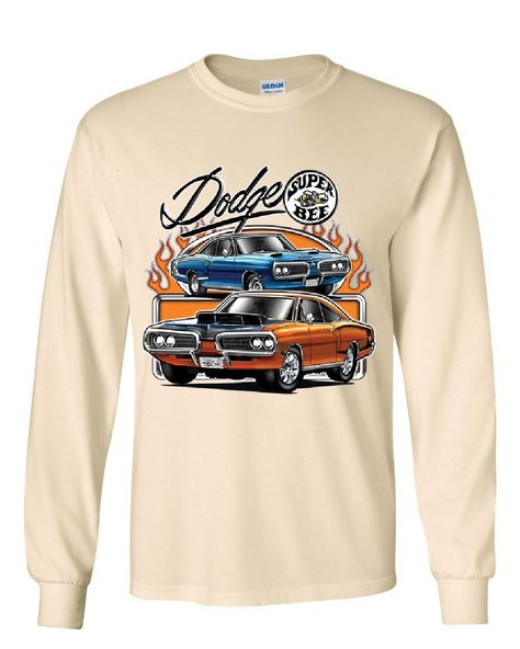 Dodge Super Bee Long Sleeve T-Shirt American Muscle Car Tee