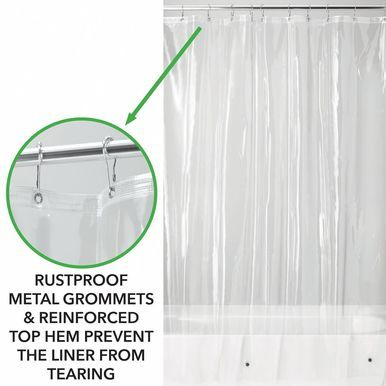 Stall Size Vinyl Shower Curtain Liner 54 X 78 Vinyl Shower