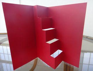 Silvia Scrap: Tarjeta con escalera Pop Up (Tutorial)