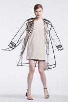 "womensweardaily: "" Outerwear Trend: Call for Rain Wanda Nylon's polyurethane trench and Yves Salomon's suede dress. Photo by Franck Mura """