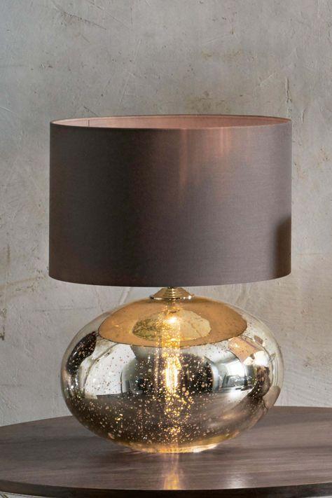 Next Petra Dual Light Gold Mercury Table Lamp Gold Table Lamp