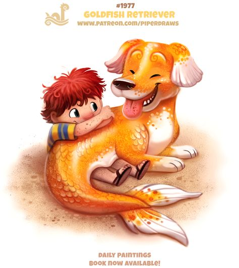 Daily Paint Goldfish Retriever by Cryptid-Creations