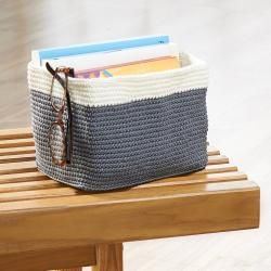 InterDesign Small Ellis Hand Knit Bin