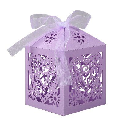 Anminy 100 Pcs Candy Box Wedding Favor Sweet Gift Bags Paper In Purple Wayfair In 2021 Wedding Candy Gifts Wedding Candy Boxes Candy Gift Box