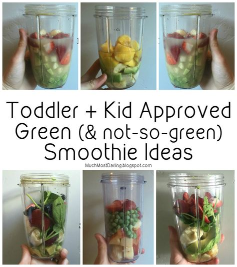 Much.Most.Darling.: Toddler Approved Green Smoothies. Great for sneaking in veggies for picky eaters and toddlers!