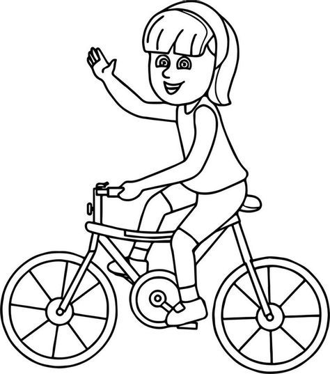 Bike And A Girl Coloring Page Coloring Pages For Girls Cool Coloring Pages Coloring Pages