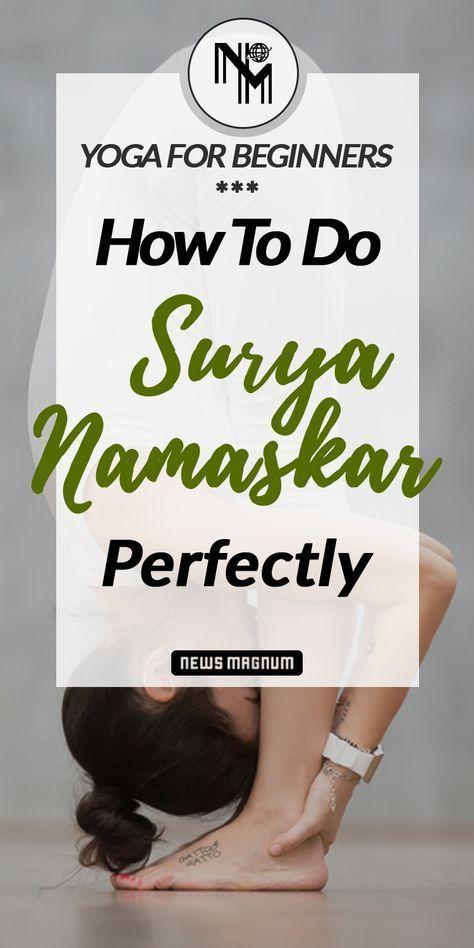 How To Do 12 Poses Of Sun Salutation Or Surya Namaskar Step By Step