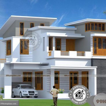 Two Storey Residential Building Plan And Low Estimate Wonderful Designs Townhouse Designs Kerala House Design Modern Bungalow House Plans