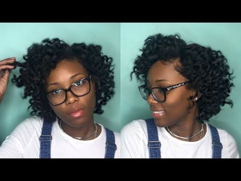 Wand Curls On Short Natural Hair Youtube Natural Hair Styles Wand Curls How To Curl Short Hair