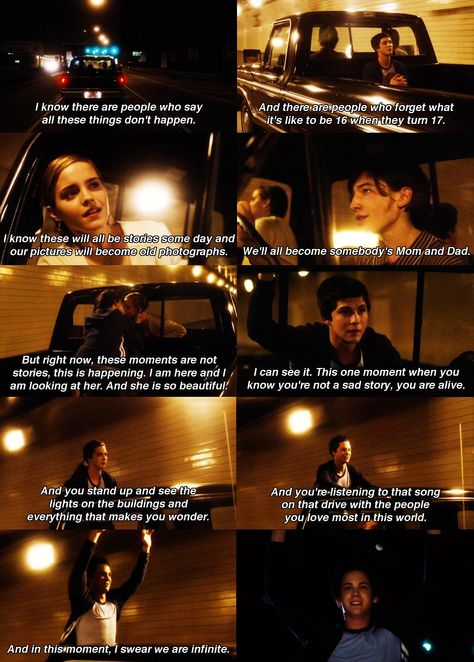 One of the best movie endings ever...insightful momentary freedom...Perks Of Being A Wallflower
