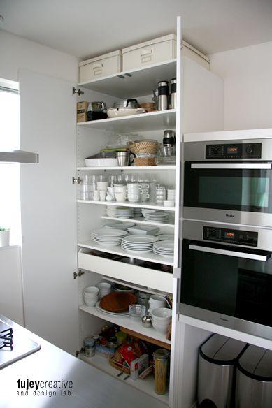 Ikeaクローゼットの食器棚 Design House 2450 食器棚 Ikea 収納棚 Ikea ハウスデザイン