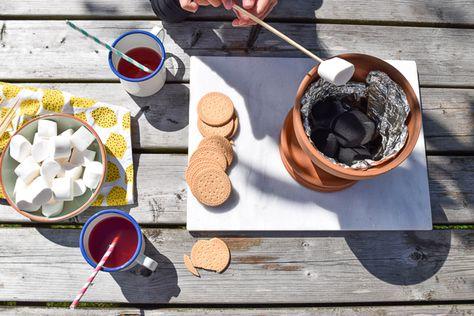 Marshmallows roosteren in een bloempot   Wimke   Goede ideeën moet je delen!