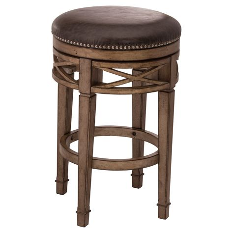 Swell Chesterfield Backless Swivel 30 Barstool Wood Gold Silver Gmtry Best Dining Table And Chair Ideas Images Gmtryco
