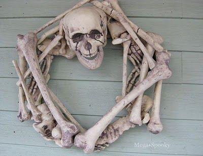 skeleton wreath how to