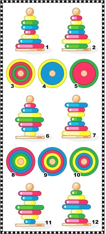 Visual Maths Puzzle Find The Top View For Each Ring Stacker Maths Puzzles Fun Math Math