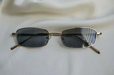 Vintage Eckige Herren Damen Sonnenbrille Grau John Lennon Style