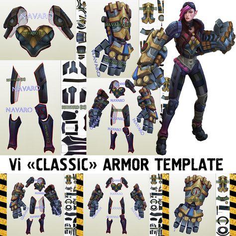 Vi Classic - Vi DIY Patterns - Foam Template - League Of Legends Cosplay