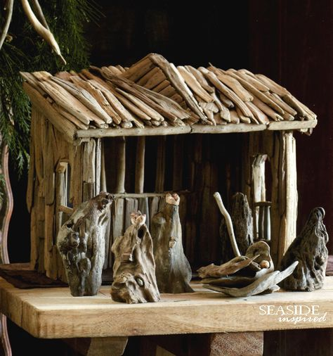 Driftwood Nativity Set.