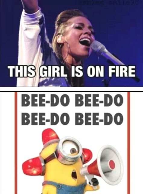 """Cracked up! Can u imagine her singing that at a concert and some random fan just interrupts going """"bee do bee do bee do""""?"""