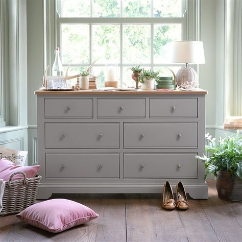 Malvern Mink 7 Drawer Chest The Cotswold Company Bedroom