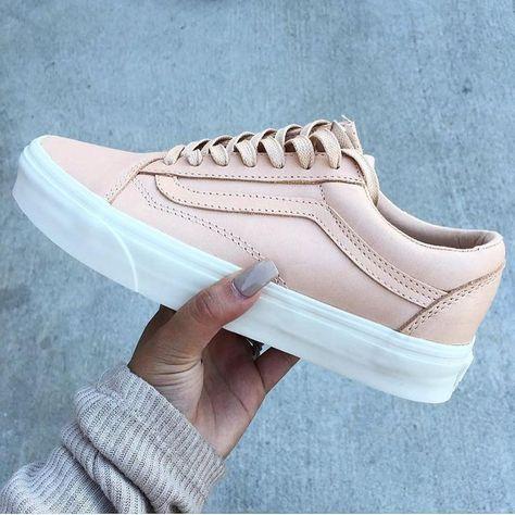 0b4e2b9933 Trendy Sneakers 2017  2018   Sneakers women – Vans nude (©paige.ashleighh)…