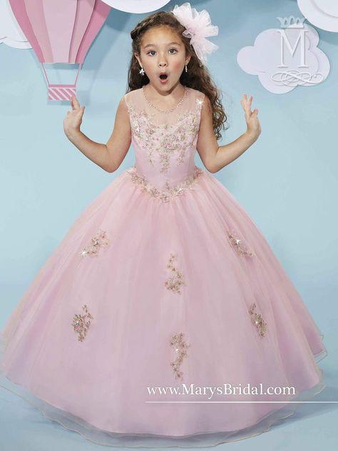 3 Años Vestido Palo De Rosa Vestidos Largos Para Niñas