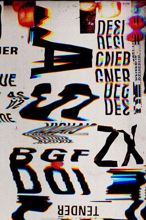Creative Marcos, Faunner, Picdit, Design, and Glitch image ideas & inspiration on Designspiration Type Posters, Graphic Design Posters, Graphic Design Typography, Graphic Design Illustration, Graphic Design Inspiration, Typography Art, Glitch Image, Glitch Art, David Carson Design